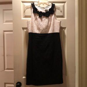 Taylor Black & White color block dress